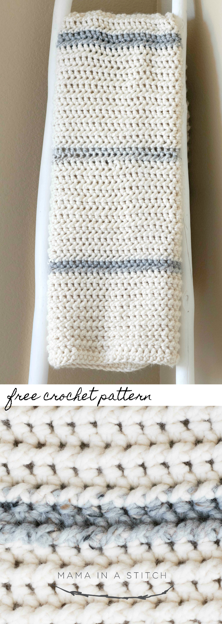 Winter Chunky Ribbed Crochet Afghan Pattern – Mama In A Stitch