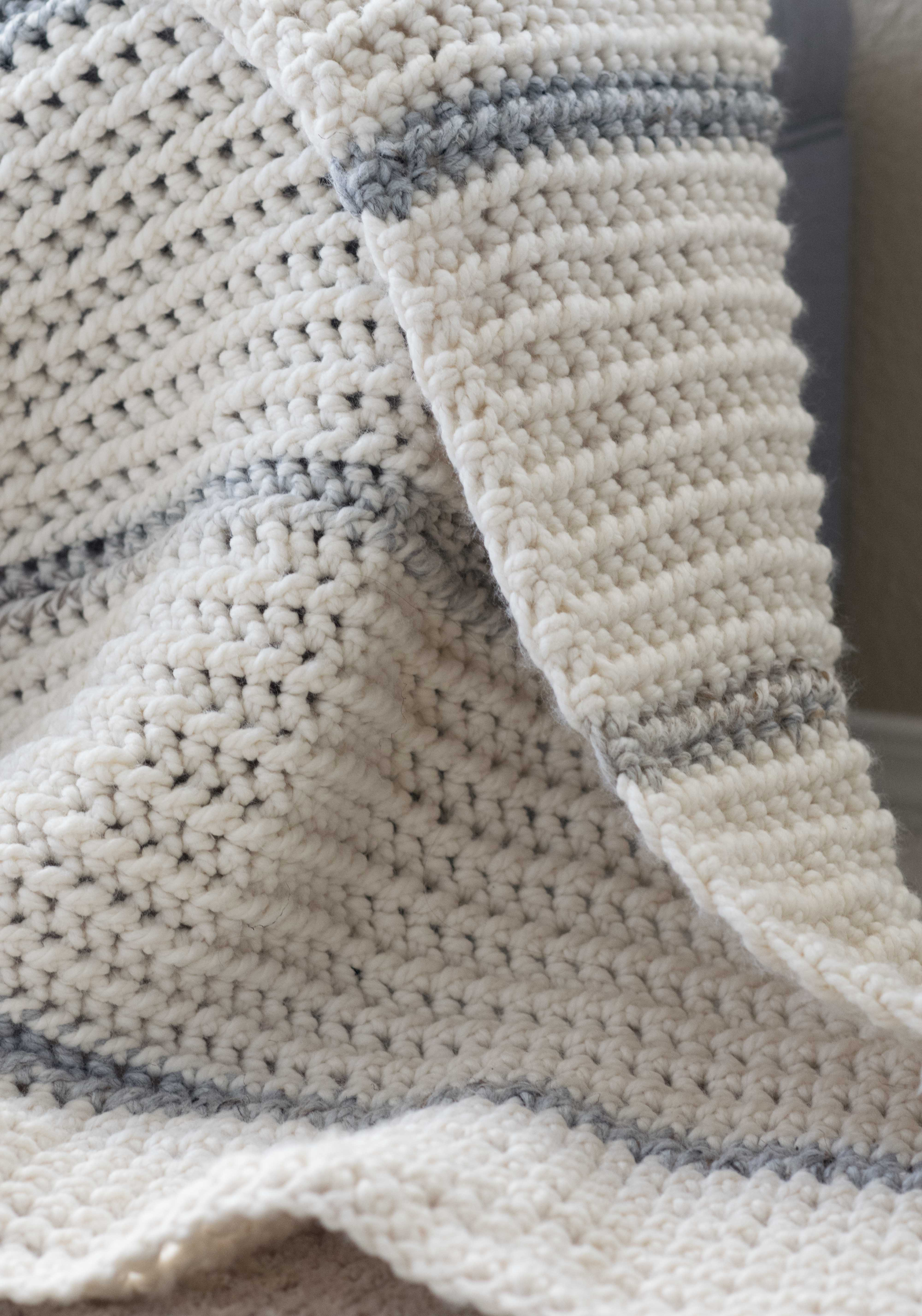 Winter Chunky Ribbed Crochet Afghan Pattern Mama In A Stitch
