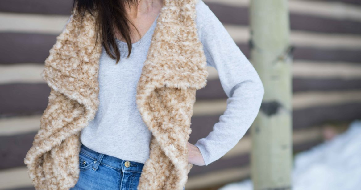Faux Fur Vest Crochet Pattern – Mama In A Stitch