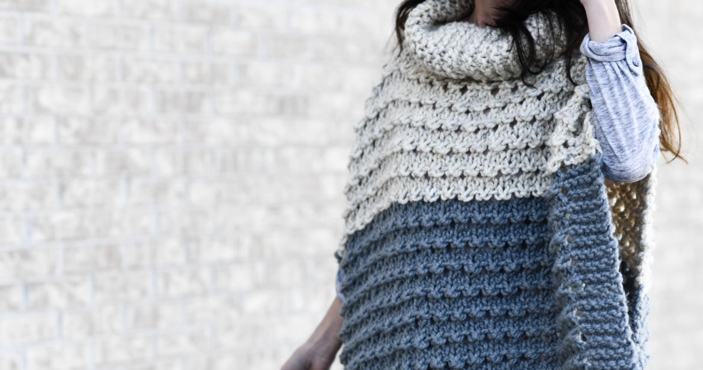 Vail Ski Poncho Knitting Pattern – Mama In A Stitch