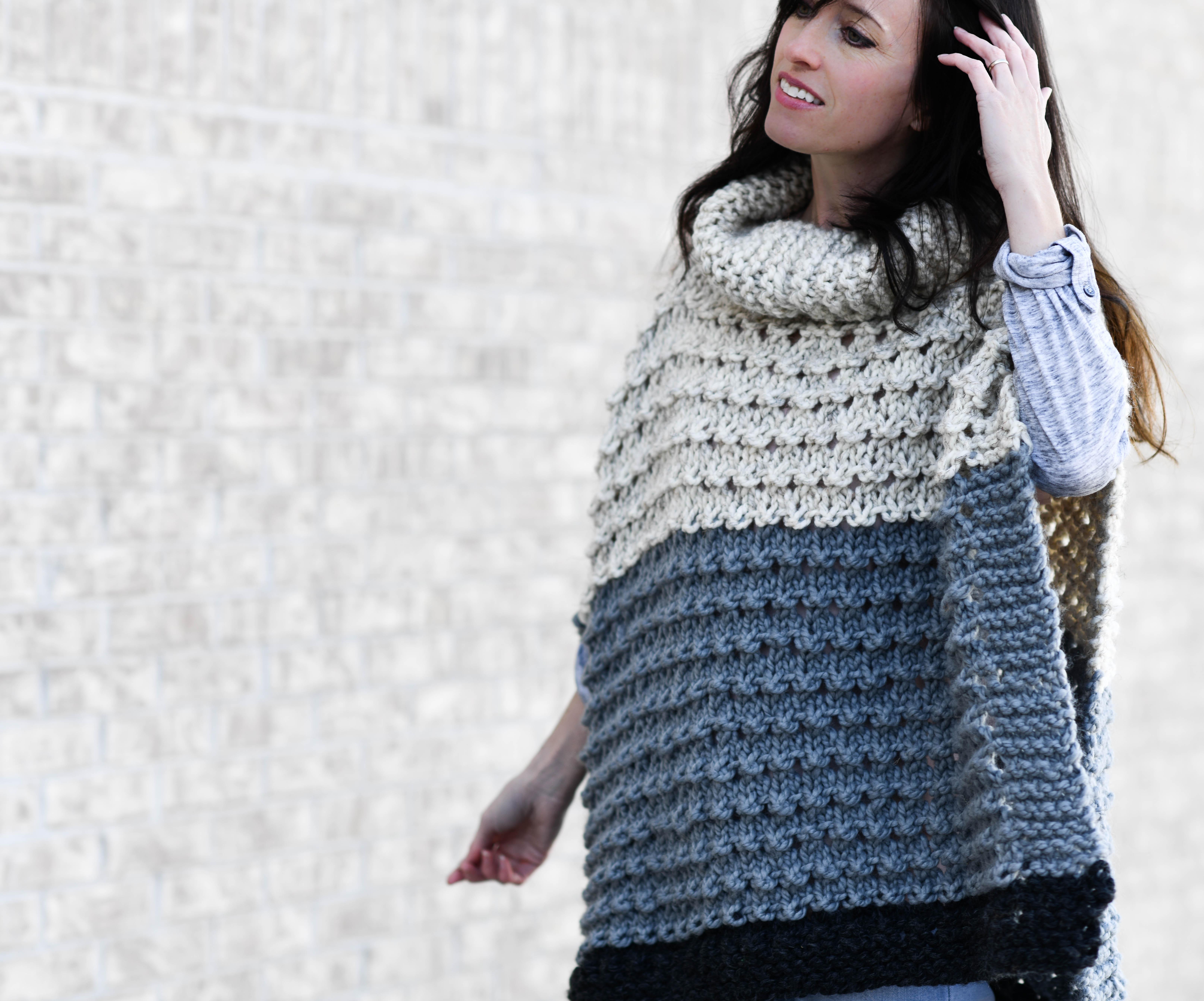 ea2bae4e9 Vail Ski Poncho Knitting Pattern – Mama In A Stitch