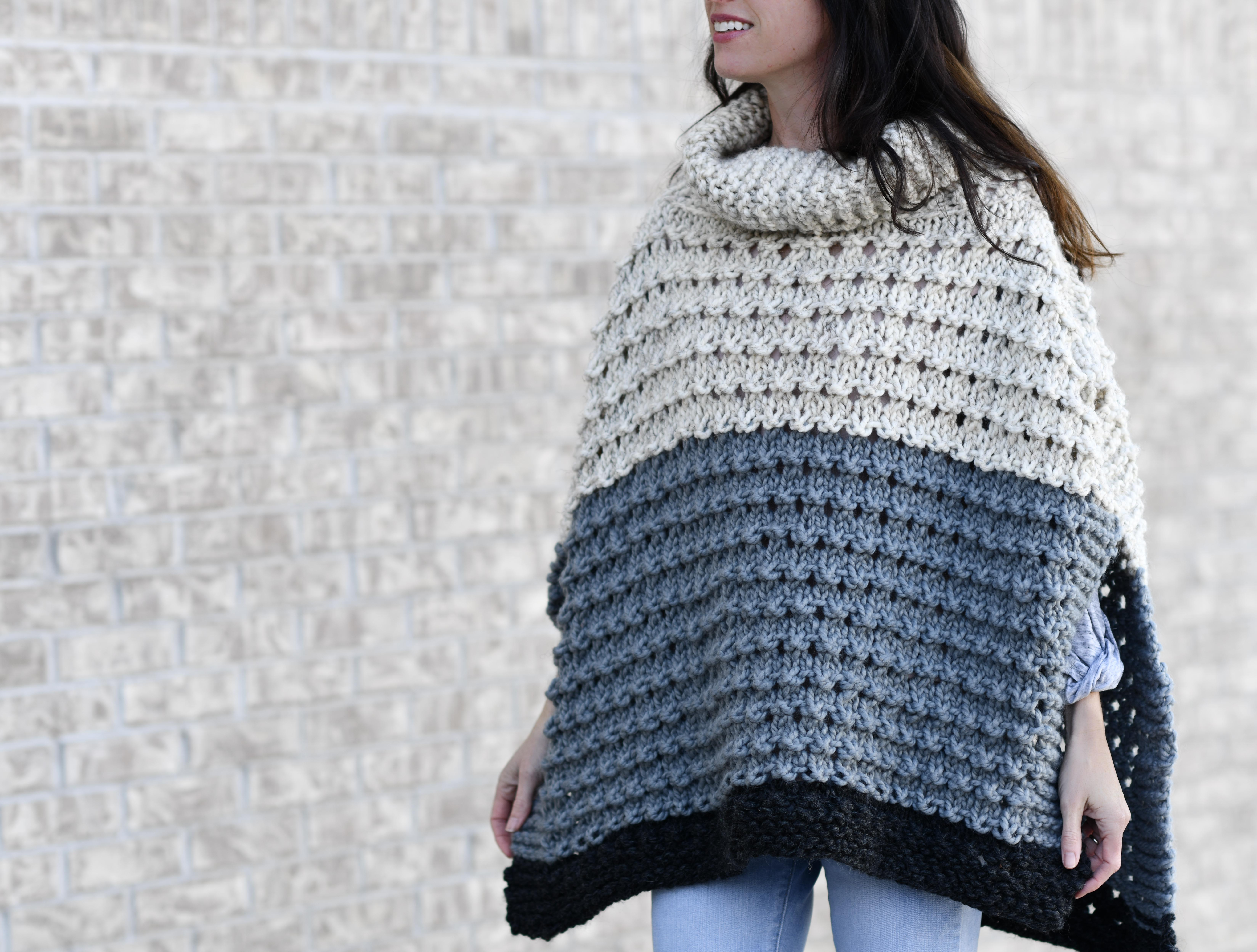 Vail Ski Poncho Knitting Pattern – Mama In A Stitch
