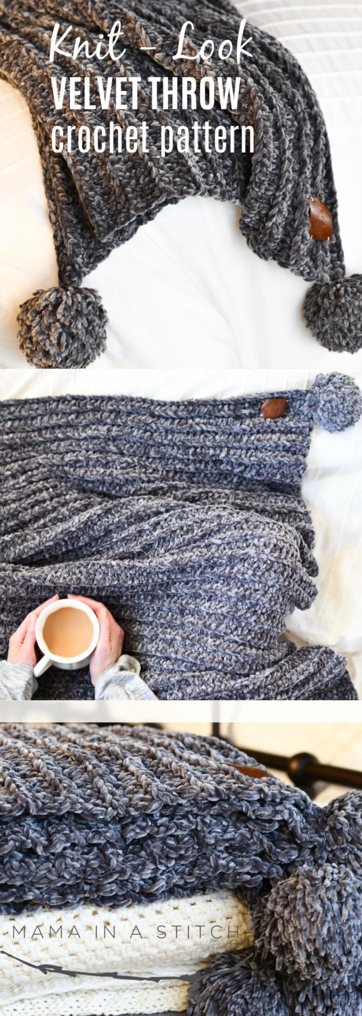 Throw Blanket Free Crochet Pattern Beginner Chunky