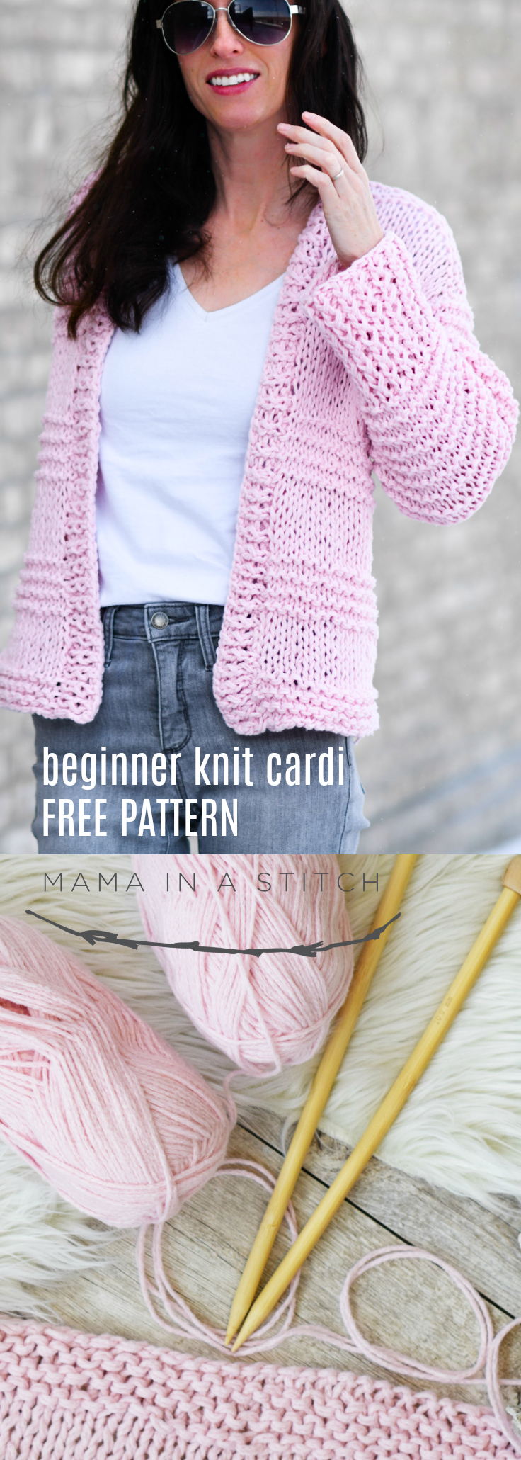 Cotton Candy Easy Knit Cardigan Pattern Mama In A Stitch