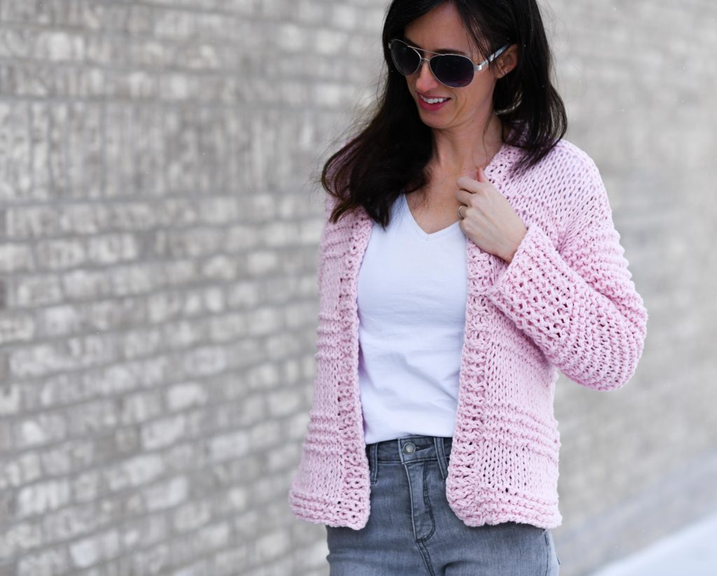 Cotton Candy Easy Knit Cardigan Pattern