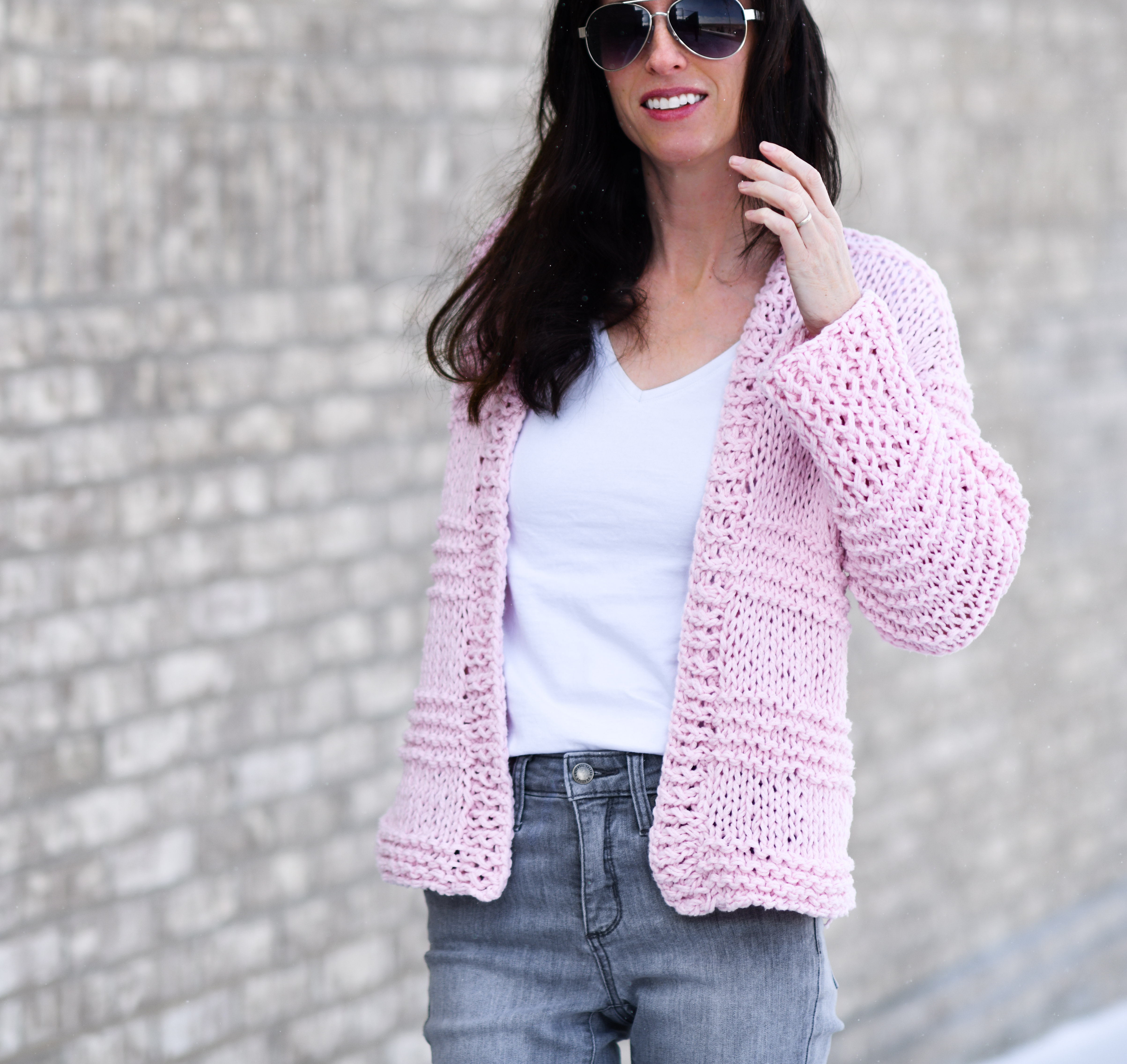 60c0ad750 Cotton Candy Easy Knit Cardigan Pattern – Mama In A Stitch