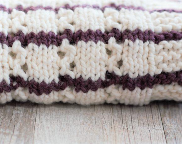 b7b0f970001a Stripes   Eyelets Urban Easy Blanket Knitting Pattern