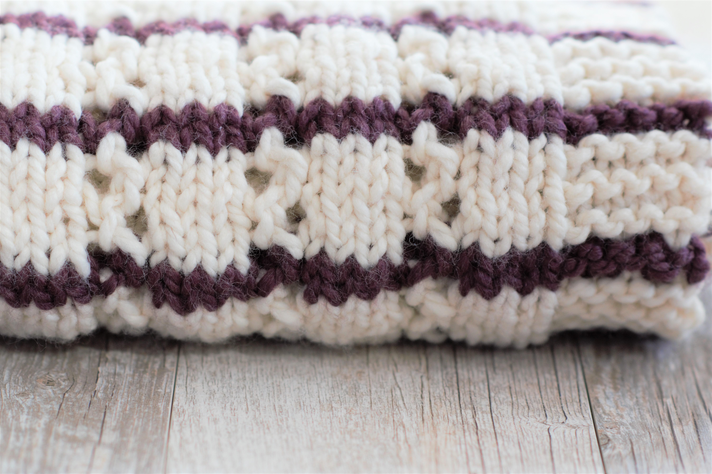 6a28aca0c9d Stripes   Eyelets Urban Easy Blanket Knitting Pattern – Mama In A Stitch