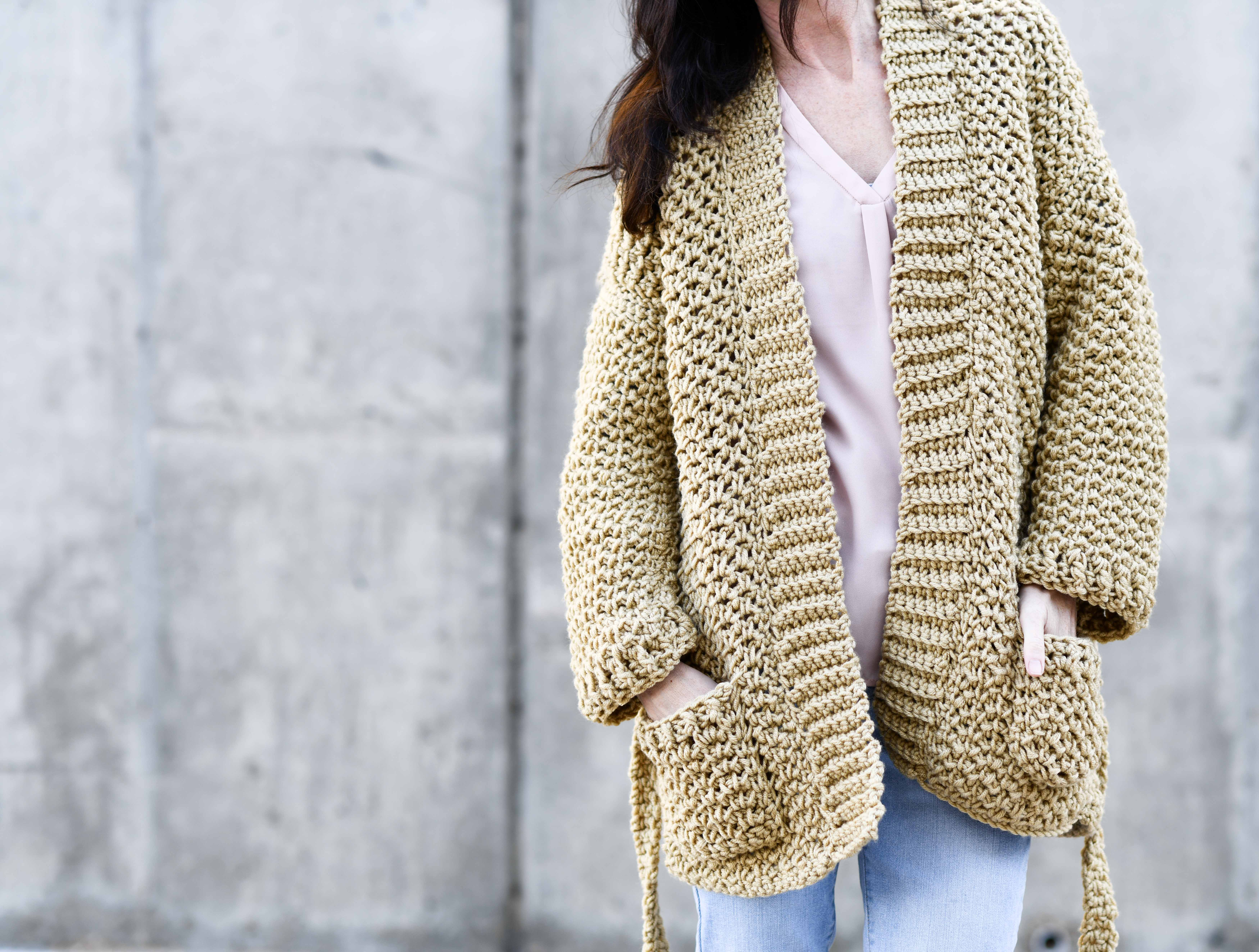 Sweater Coat Cardigan Crochet Pattern More Mama In A Stitch