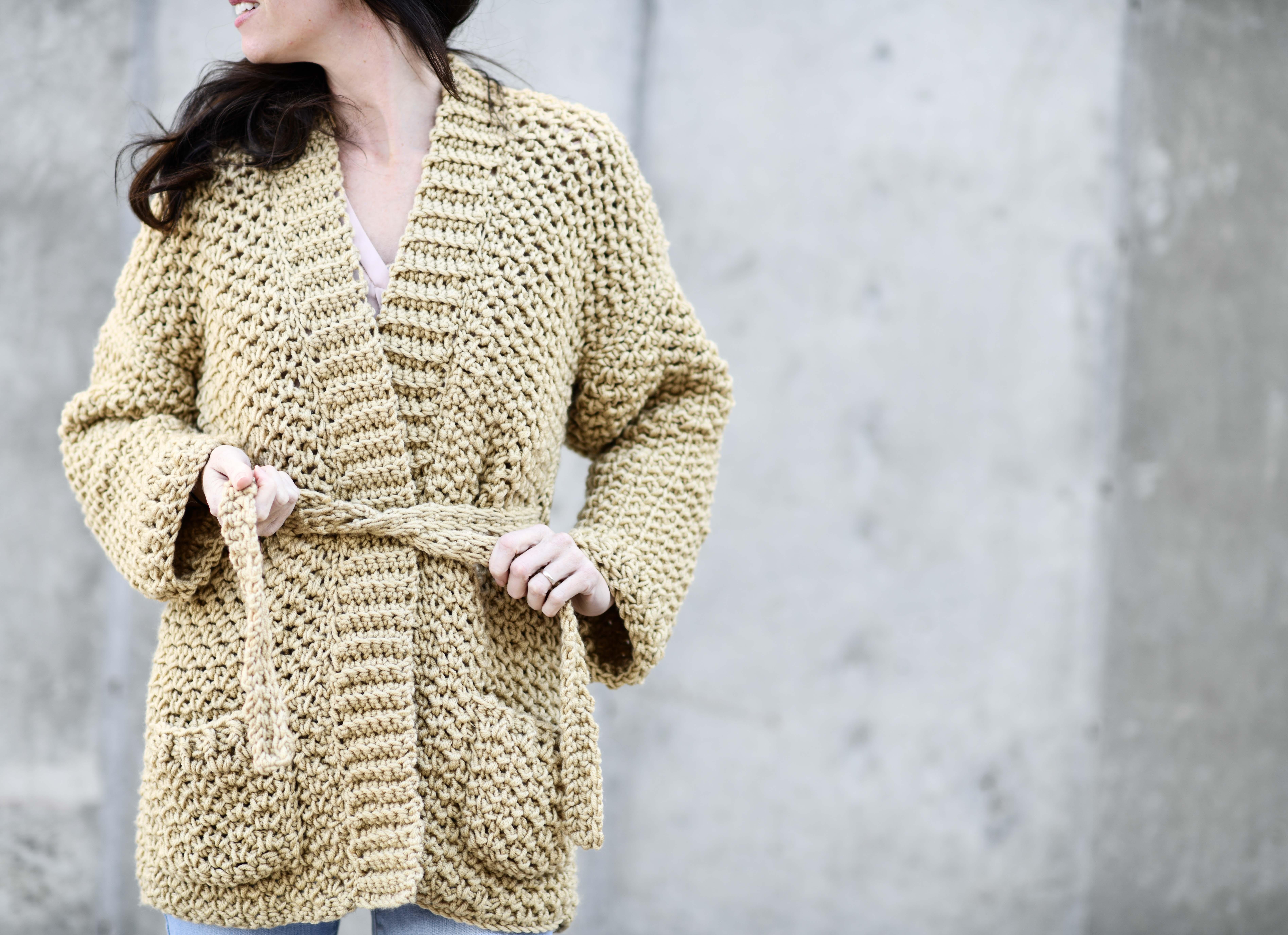 59d74306e1a Sweater Coat Cardigan Crochet Pattern & More – Mama In A Stitch