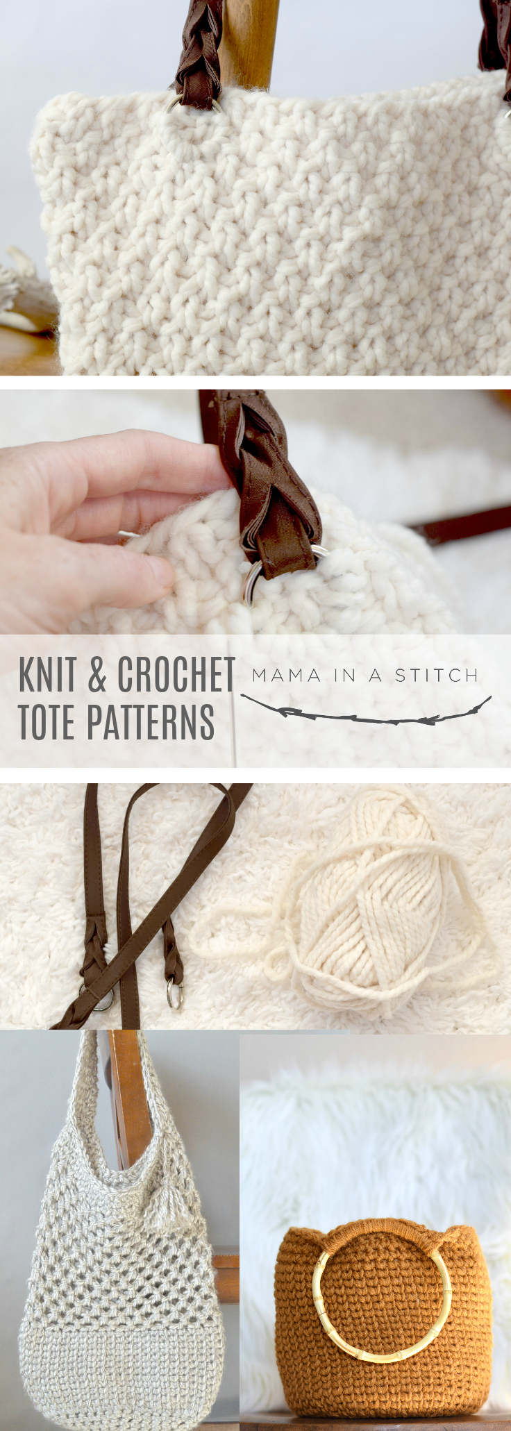 Easy Crochet & Knit Bag Patterns – Mama In A Stitch