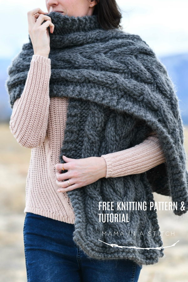 Easy Winding Cables Wrap Knitting Pattern – Mama In A Stitch