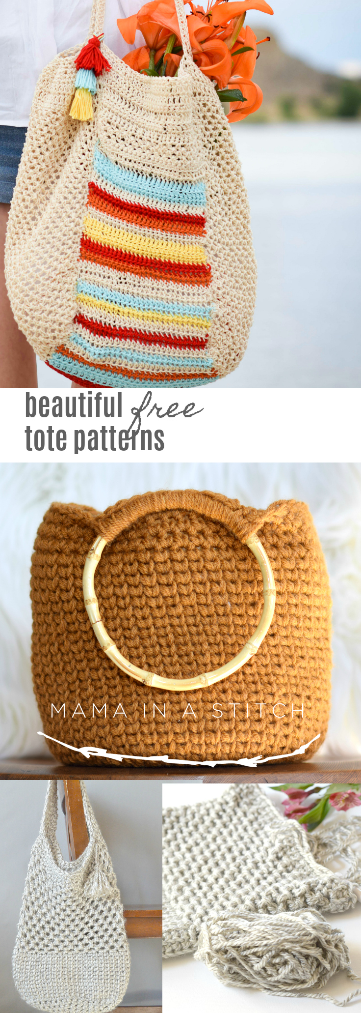 Easy Crochet & Knit Bag Patterns - Mama In A Stitch