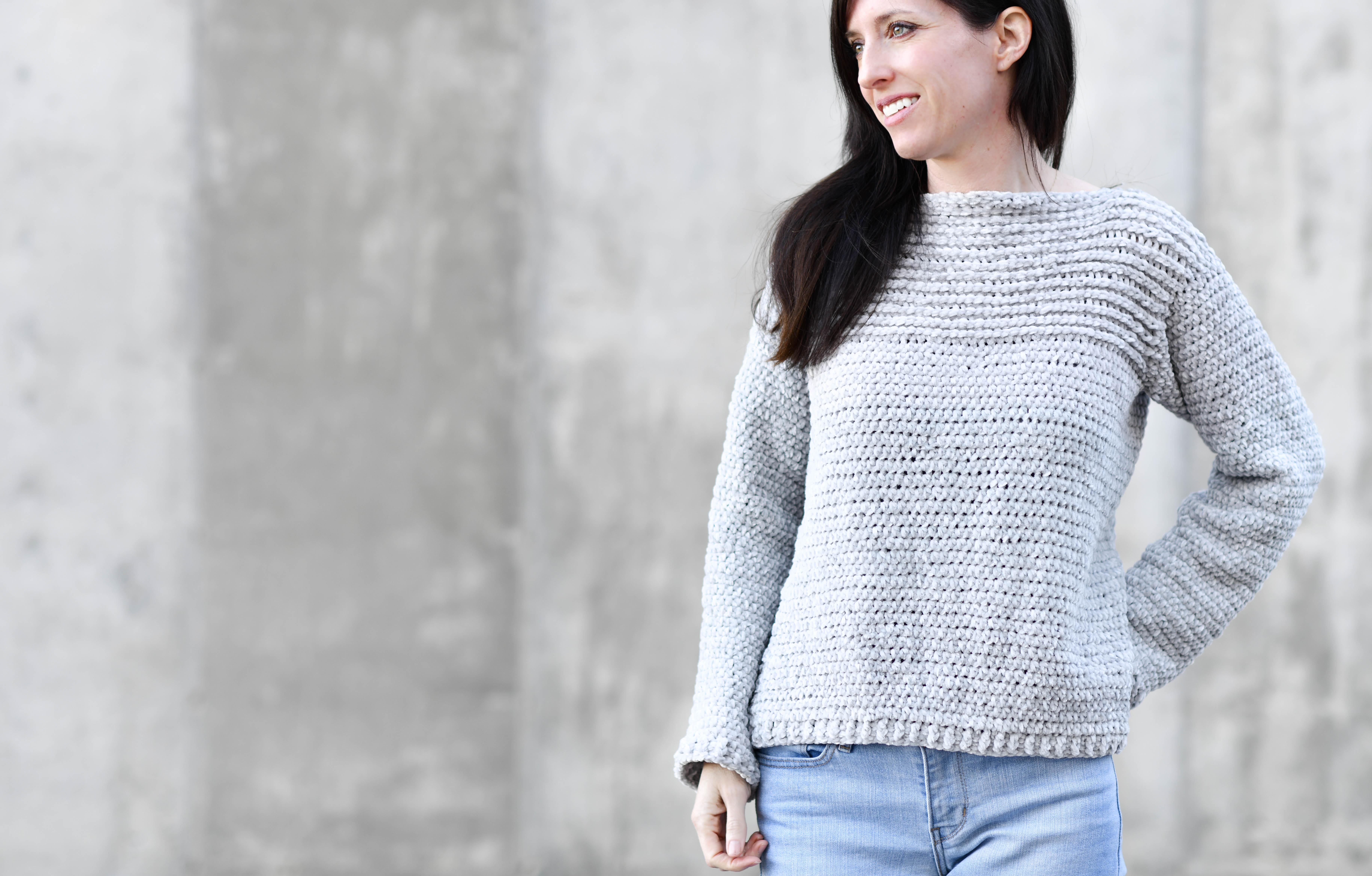476b61be6 My Velvety Pullover Crochet Pattern – Mama In A Stitch