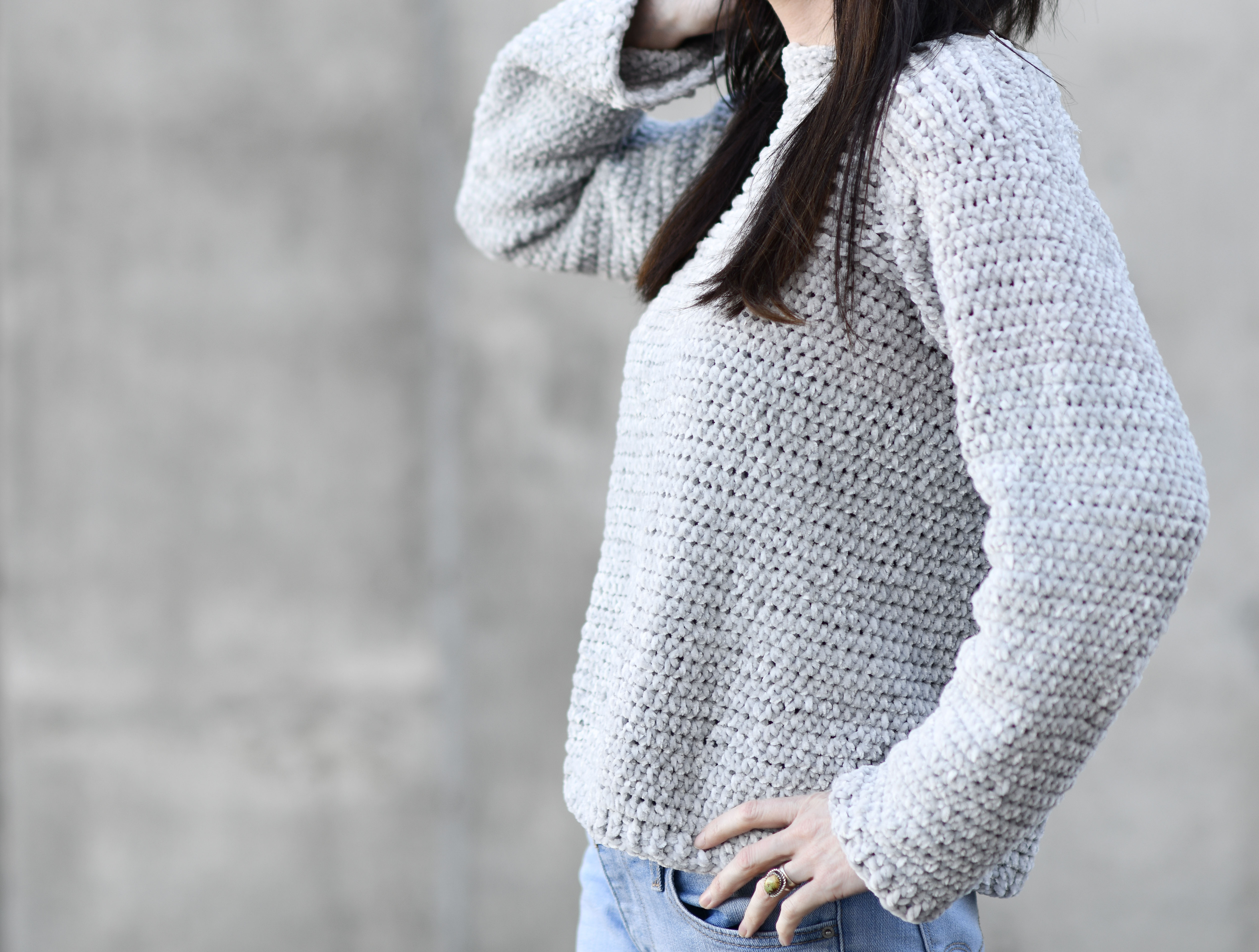 My Velvety Pullover Crochet Pattern Mama In A Stitch