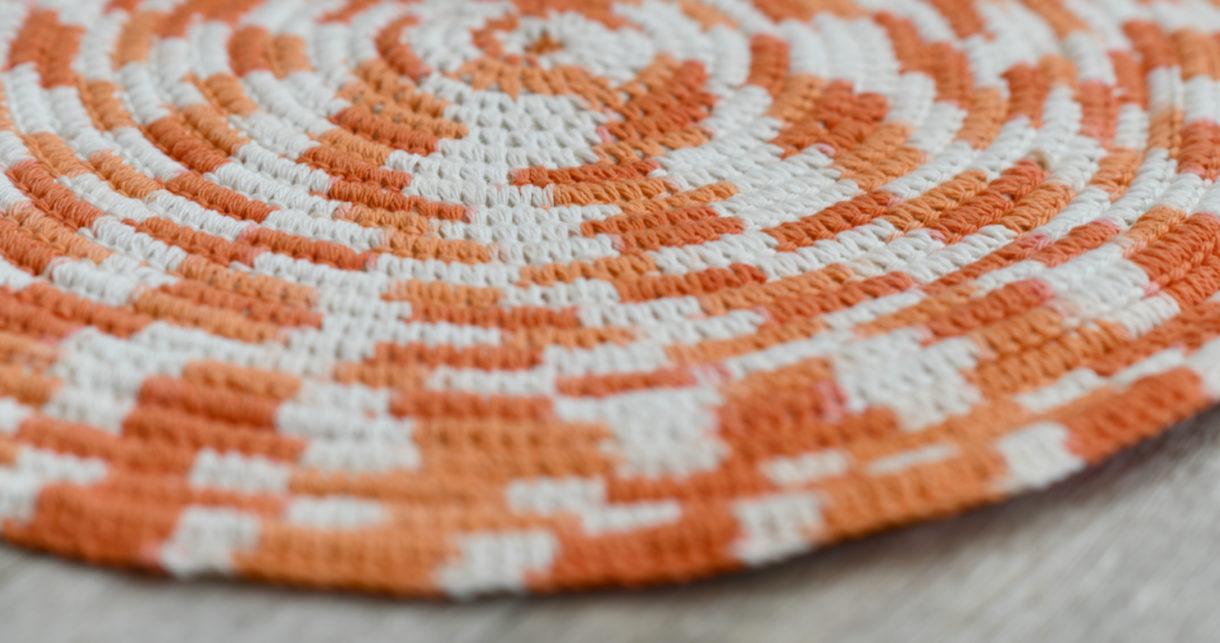 Crochet A Scrap Yarn Rope Bath Mat