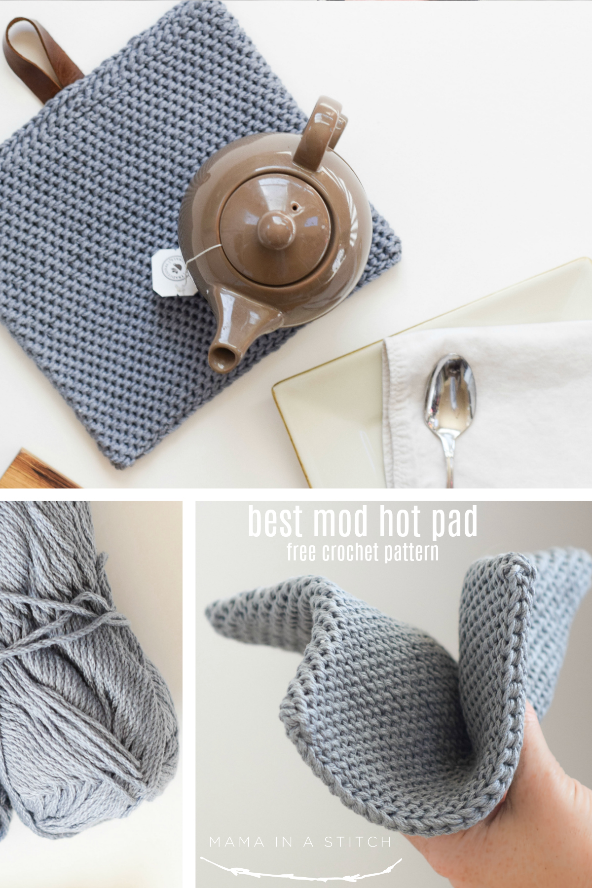 Best Modern Hot Pad Crochet Pattern Mama In A Stitch