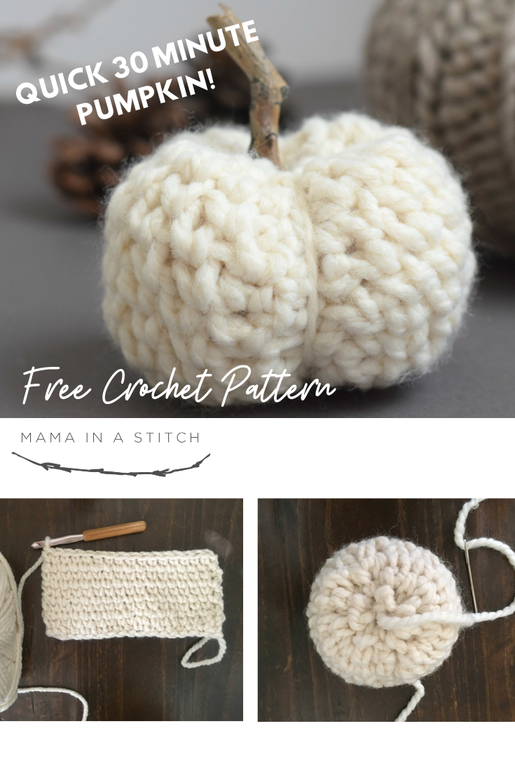 How To Crochet A Chunky Quick Pumpkin Mama In A Stitch