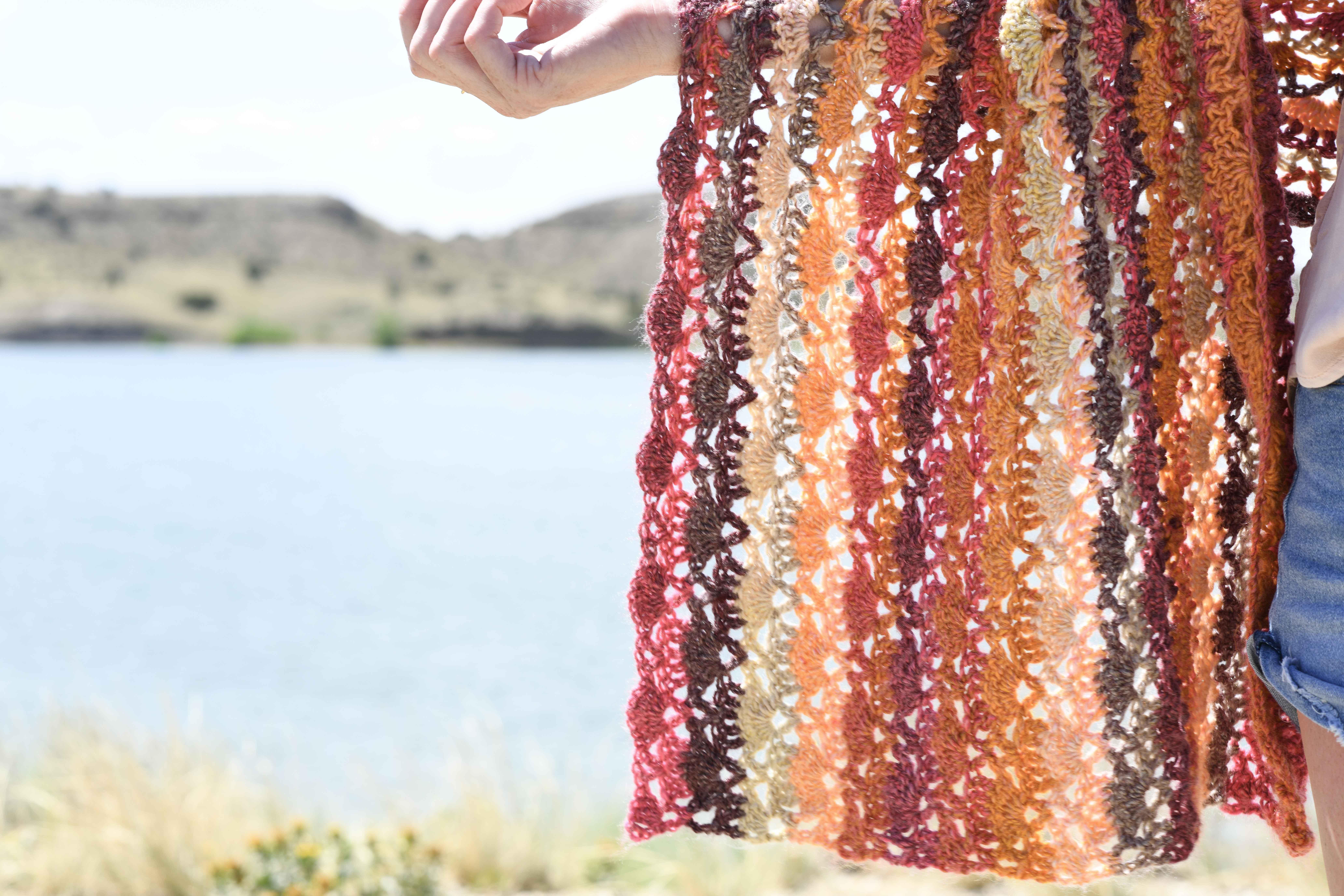 Isla Scalloped Wrap - Shawl Crochet Pattern – Mama In A Stitch
