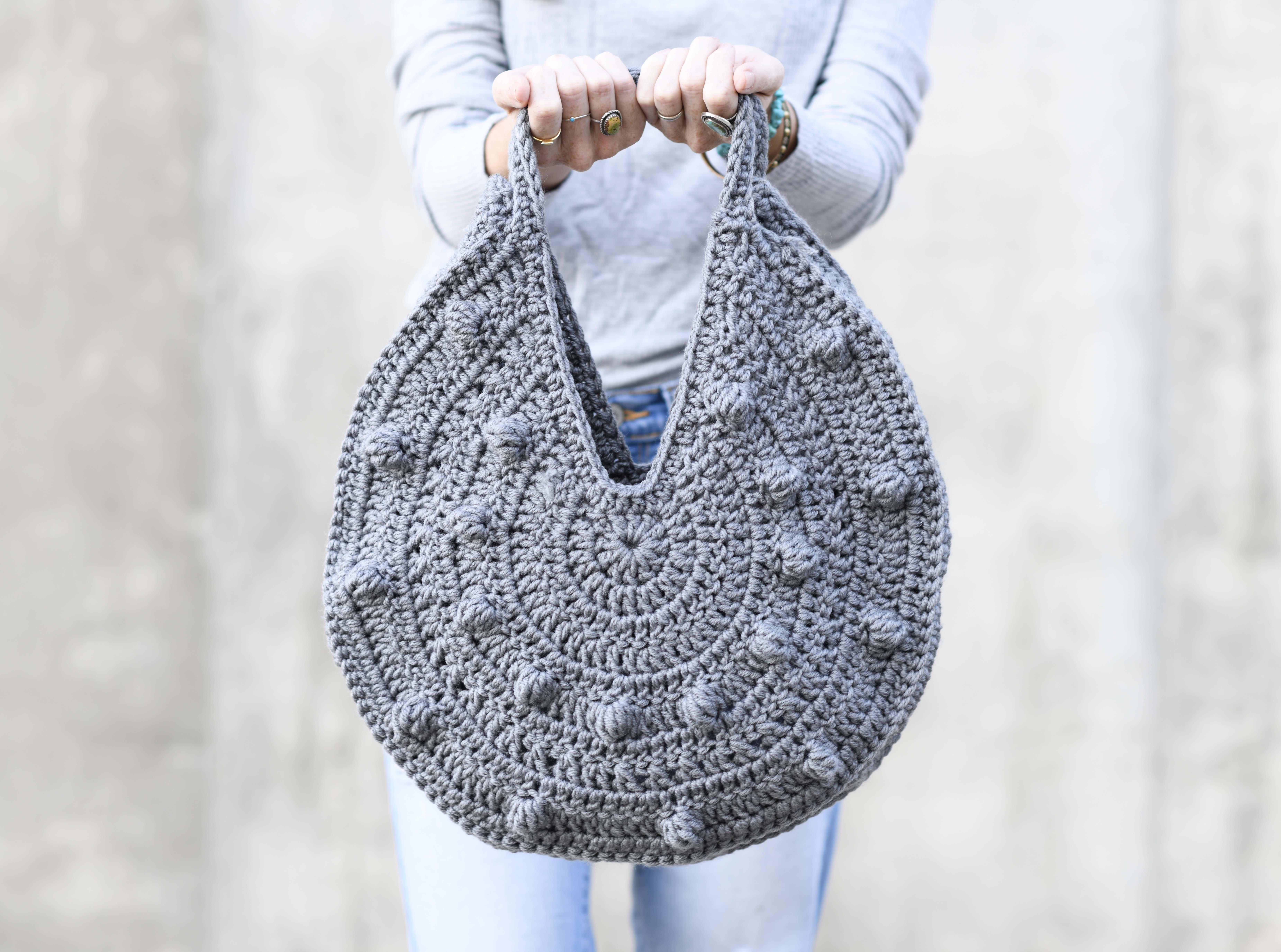 Bobbles Circle Tote Crochet Pattern Mama In A Stitch