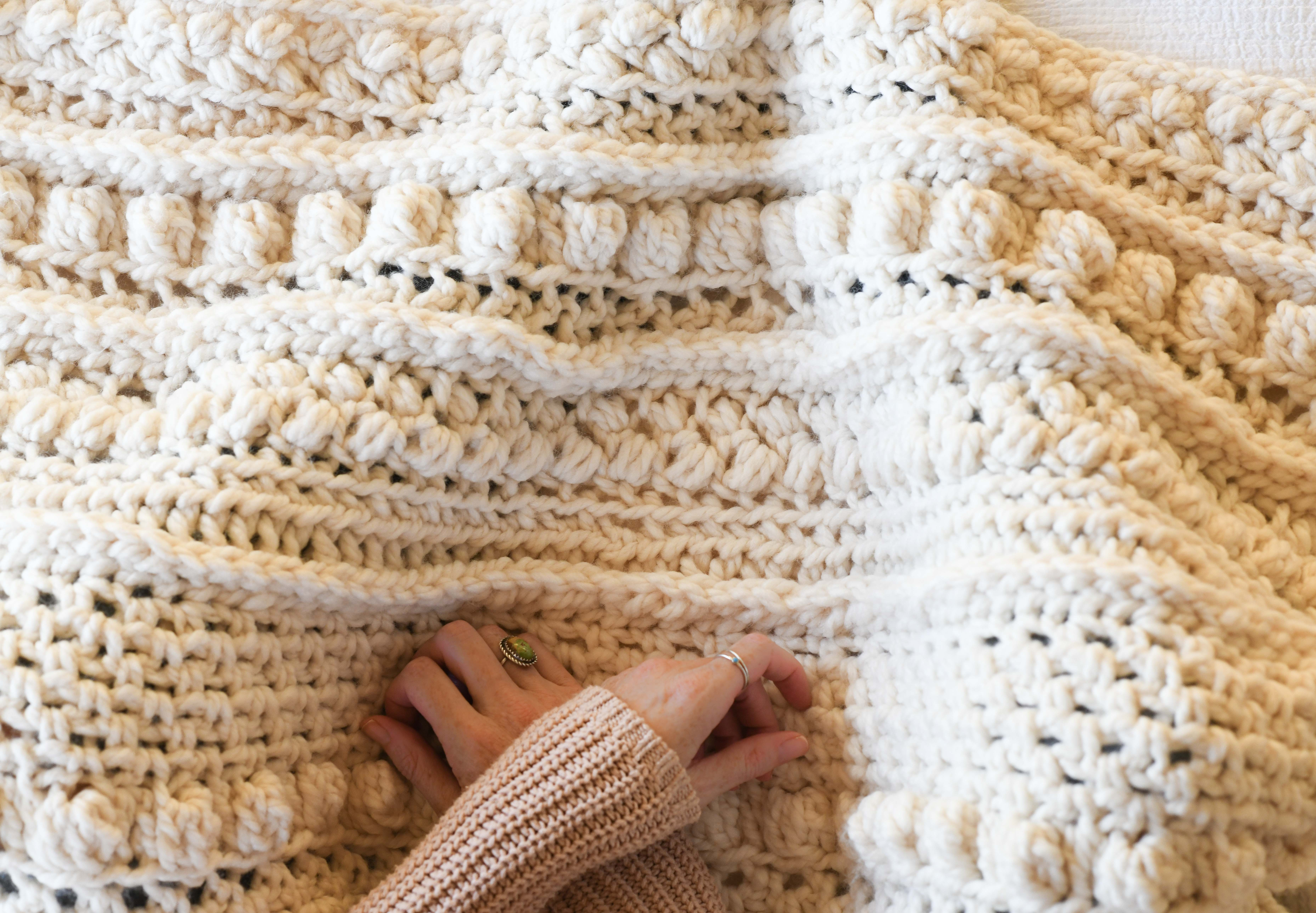 Chunky Sampler Blanket Crochet Pattern Wintertide Throw Mama In A Stitch
