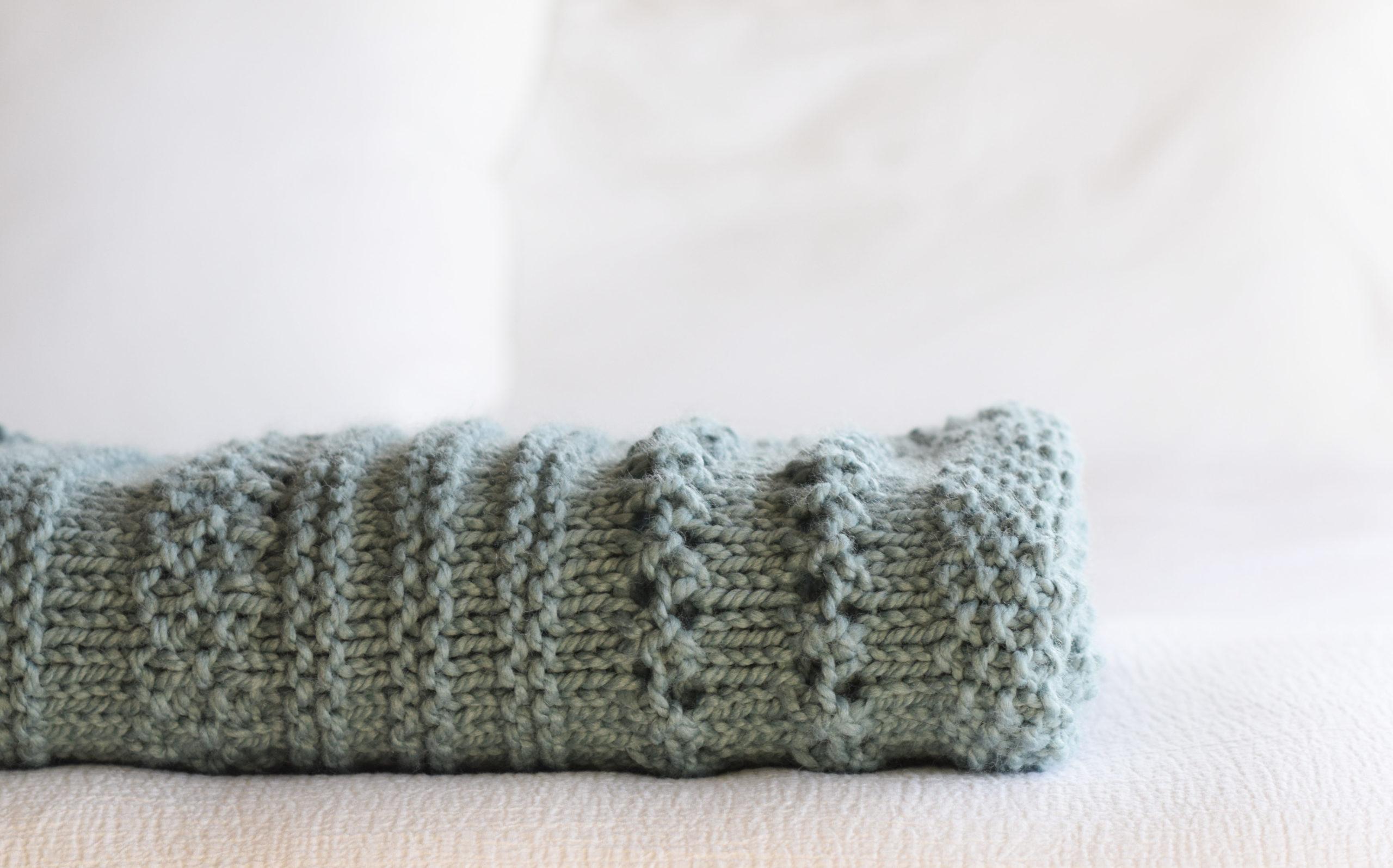 Winter Cuddler Knit Sampler Blanket Pattern 8 scaled