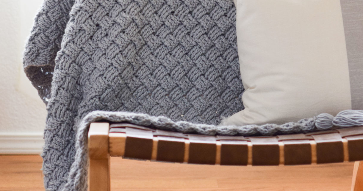 Diagonal Diamonds Woven Throw Crochet Pattern Mama In A Stitch