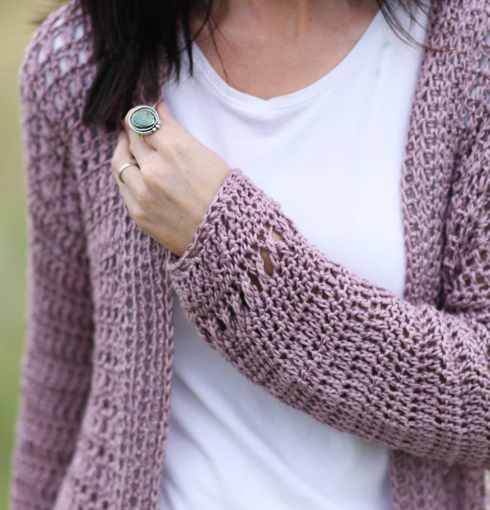 Atlantis Long Sleeved Merino Winter Dress Crochet Pattern ENGDA