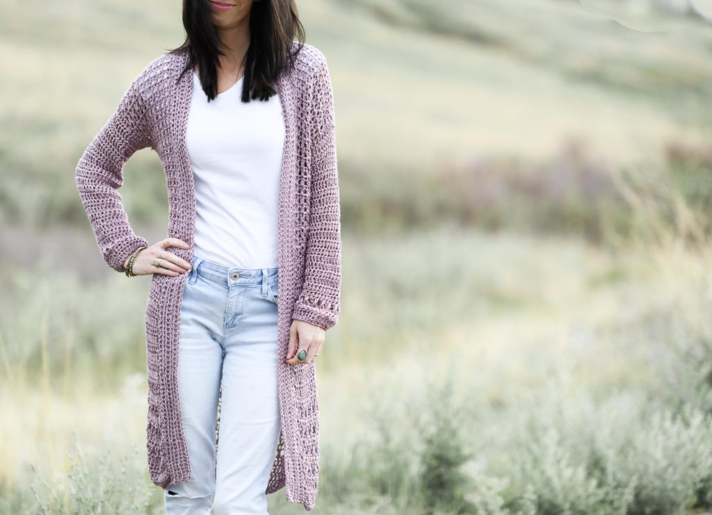 Fabulous and Fun 34 Sleeved Crocheted Cardigan US Woman/'s Size Medium