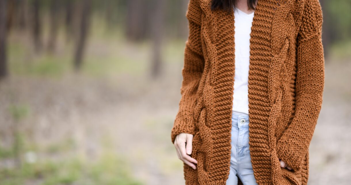 Easy Cable Knit Sweater Free Pattern – Mama In A Stitch
